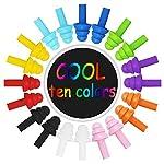 Kulannder-10-Pairs-Nuoto-Tappi-per-le-orecchie-Silicone-Noise-Cancelling-Tappi-per-le-Orecchie-Tappi-per-le-Orecchie-Riutilizzabili-Impermeabili-con-Custodia-per-il-Nuoto-e-il-Sonno-10-Colori