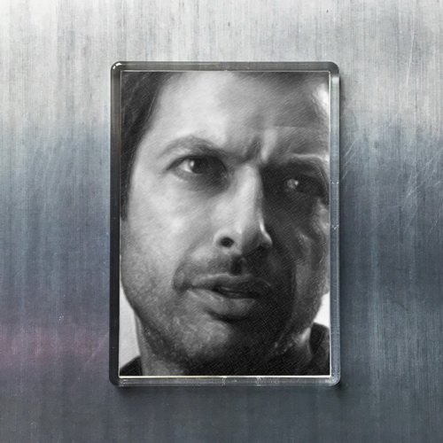- Seasons JEFF GOLDBLUM - Original Art Fridge Magnet #js002