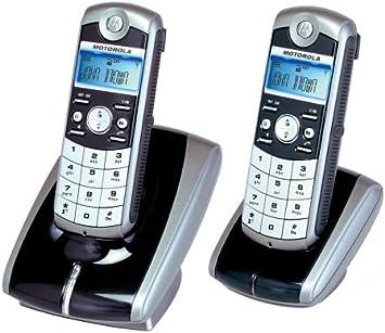 Motorola ME4052 Twin DECT - Teléfono inalámbrico (pantalla LC retroiluminada en color azul, incluye soporte de carga): Amazon.es: Electrónica