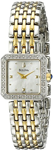 Womens Watch 20 Diamonds (Bulova Women's 98R132 Mother of Pearl Dial 20 Diamonds Case Bracelet Watch)