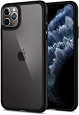Spigen Coque iPhone 11 Pro [Ultra Hybrid] Bumper Noir en TPU Souple, Dos en PC Rigide et Transparent, Protection - [Air Cushion] Coque Compatible avec iPhone Pro (2019)