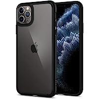 Spigen Coque iPhone 11 Pro [Ultra Hybrid] Bumper Noir en TPU Souple, Dos en PC Rigide et Transparent, Protection - [Air Cushion] Coque Compatible avec iPhone Pro (2019)