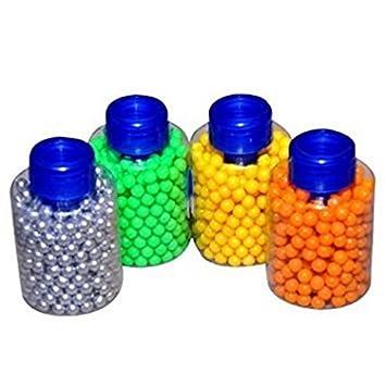 Botella de 1000 Bolas 6mm Pellets de plástico para la recarga de Pistola en la plata