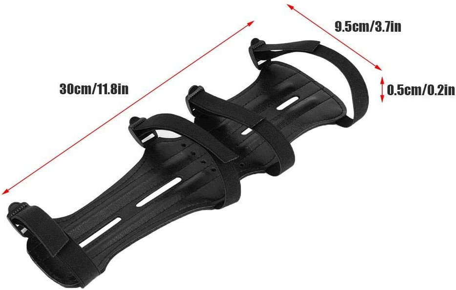 Zer one Soft Archery Armguard with Adjustable Straps Adjustable Shooting Archery Arm Guard Band Protector Accessory