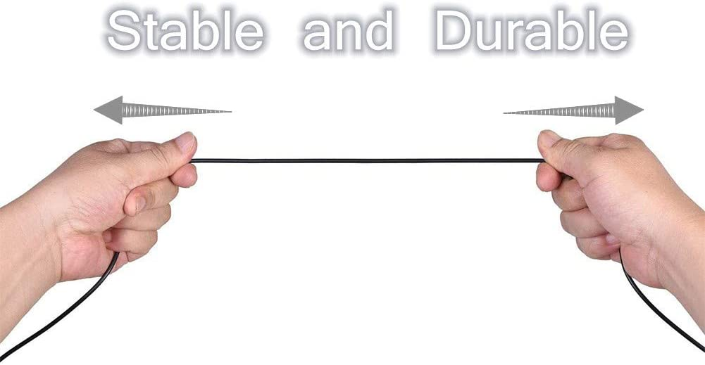 G433 Auriculares para Juegos 2 m // 6.6 pies A50 Xingsiyue Cable de Control de Volumen de Repuesto para Astro A10 Logitech G233 A40 A30
