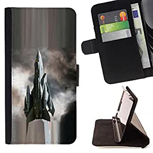 DEVIL CASE - FOR Sony Xperia m55w Z3 Compact Mini - Modern fighter - Style PU Leather Case Wallet Flip Stand Flap Closure Cover