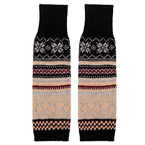 Womens been Warmers, winter warme zachte enkel knie warmers gebreide haak boheemse been warmer boot manchetten sokken
