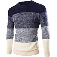 Zicac Men's Casual Fashion Pullover Sweater Assorted Color Knitwear