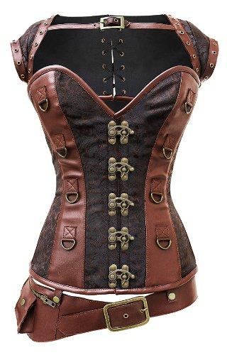 Steampunk Corset, Jacket, and Belt