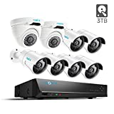 Reolink 16CH PoE Security Camera System 5MP/4MP NVR with 4MP 6 Bullet & 2 Dome PoE Surveillance IP Cameras 3TB HDD 24/7 Recording RLK16-410B6D2