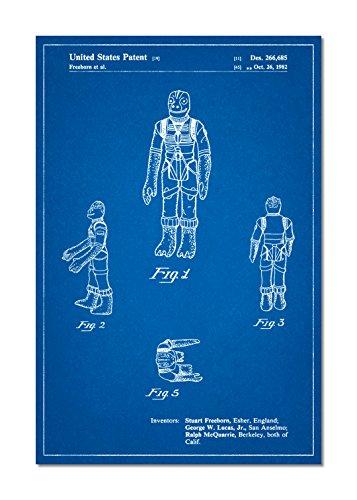 PatentPrints Star Wars Bossk Patent Poster Color Blueprint Size 18x24