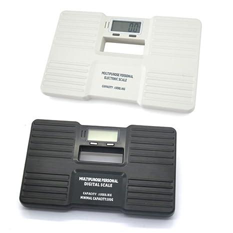 Plástico Personal saludable báscula de baño digital de precisión pantalla LCD retroiluminada de peso corporal 150