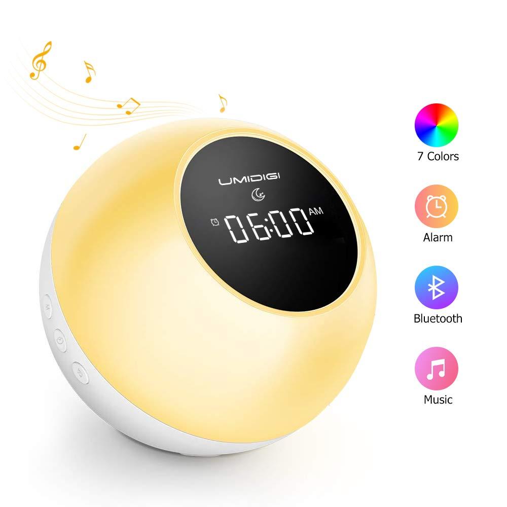 Wake-up Light, UMIDIGI Lampada Notturna LED con 7 Colori