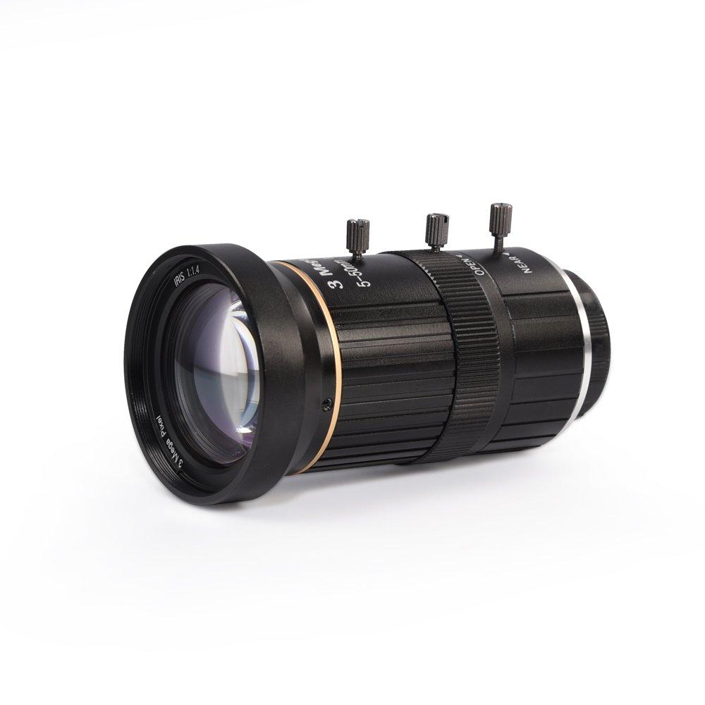 MOKOSE HD CCTV Telephoto Zoom Camera Manual Lens 5-50mm 1/2.7'' 3 Mega Pixel IR F1.4 CS Mount Varifocal by MOKOSE