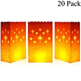 Arts & Crafts : Cospring Luminary Bag Candle Bag Light Holder for Home Outdoor Christmas Wedding Reception Holiday Party and Event Occasion Decoration - Flame Resistant Paper - (20 Count)03