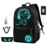 DOLIROX® Cool Boys Girls Outdoor Backpack Anime Luminous Backpack Daypack Shoulder School Bag Laptop Bag ( Large )