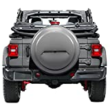 2018 Jeep Wrangler Rubicon JL & JLU - 33'' Color Matched Rigid Tire Cover (Plastic Face & Vinyl Band) - Billet Silver