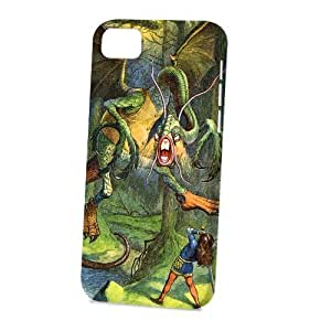 Case Fun For Iphone 4/4S Case CoverVogue Version - 3D Full Wrap - 3D Full Wrap - Alice in Wonderland Jabberwocky