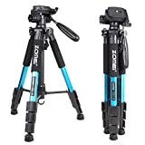 ZOMEI 55 Lightweight Compact Travel Portable Camera Tripod for Canon Nikon Sony DSLR Camera Video with Carrying Bag(Blue)