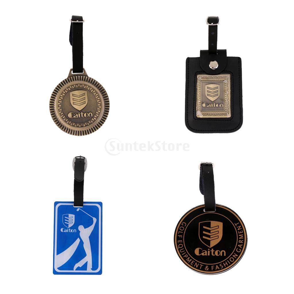 CUSHY turdy tylih Golf Bag Tag Travel Lugg Bag Tag Label Hanging Decoration Four Pattern: ngular Bronze
