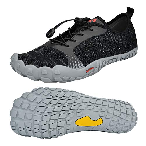 QANSI Mens Athletic Shoes Outdoor Hiking Shoes Mesh Breathable Barefoot Gym Sports Running Walking Shoes(Size 9 M US)