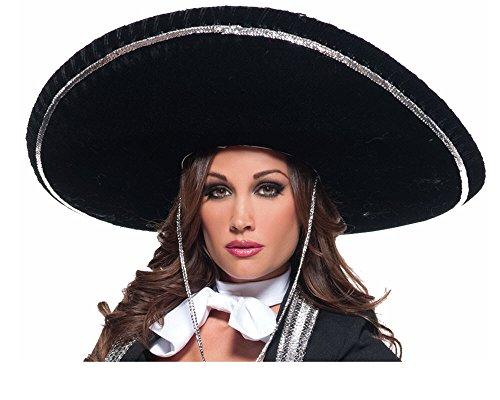 [Underwraps Costumes  Men's Mariachi Costume - Hat, Black/Silver, One Size] (Mens Mariachi Halloween Costume)