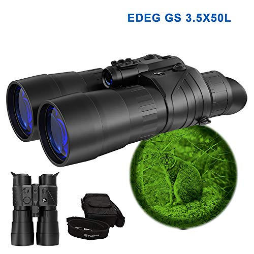 3.5X50mm Night Vision Binocular Binoculars, Infrared HD Telescope, Brightness Adjustable Waterproof Endurance Comfortable, for Wildlife Patrol Search and Rescue Travel,3.5x50l