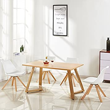 Designetsamaison Table A Manger Rectangulaire Scandinave Bois Trevi
