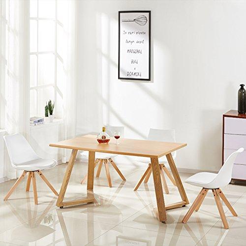 Table à manger rectangulaire scandinave en bois - Trevi