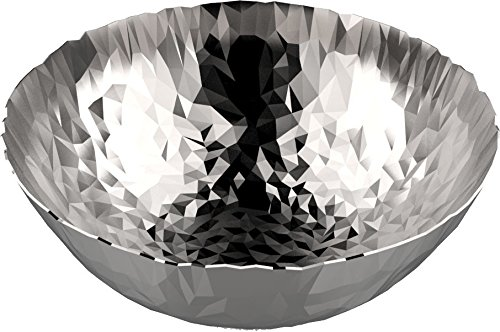 Alessi''Joy n11'' Round Basket in 18/10 Stainless Steel Mirror Polished, Silver