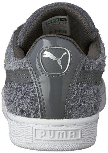 Grigio M In Bianco Elemental Wn's puma Sneaker Acciaio Us Scamosciata Pelle Da 8 Donna w7xRqqFA0