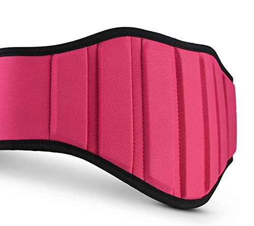 Premium Weightlifting Belts Women & Men - Ideal Squat Belt For Gym & Squats - Best Belt Weightlifting For Lift Weights Equipment And Weights - Durable Belt Weight Lifting (Pink M)