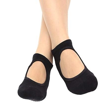 Vosarea Calcetines de Yoga, Pilates Calcetines de Yoga Antideslizantes Agarre Calcetines de algodón Ballet Baile