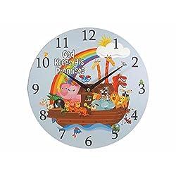 Swanson Christian Supply 82748 Clock-God Keeps His Promises & Noahs Ark - 11.5 in.