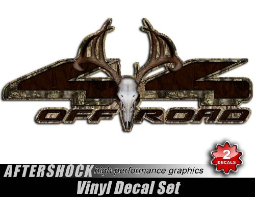Camo Skull Sticker 4x4 Truck Decal Archery Camo Hunting Set for F150