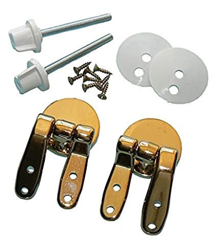 Brass Toilet Seat Hinges.Amazon Com Vemco 9unhbr Wood Toilet Seat Hinges Brass By