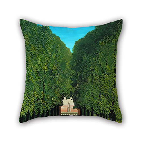 Throw Pillow Case Of Oil Painting Henri Rousseau - The Avenue In The Park At Saint Cloud 16 X 16 Inches / 40 By 40 Cm,best Fit For Girls,father,wife,car Seat,dinning (Twin Lakes Park Halloween)