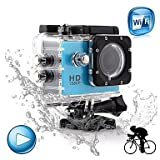 """XIMKCOD Winait 1080P Full HD WiFi Sports Camera With 1.5"""" Display and 30M Waterproof Case (Support 32GB Memory Card)"""