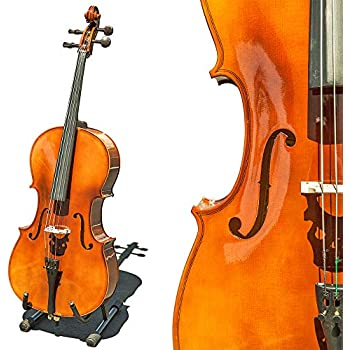 Cellos Orchestral Fast Deliver New 4/4 Cello Neck Full Size Cello Parts Maple Wood No Peg Hole 4 String Skillful Manufacture