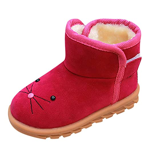 Baby Toddler Girls Boys Snow Boots Winter Warm Shoes 1,6 Years Old ❤️ Kids  Fashion Cute Cartoon Casual Shoes