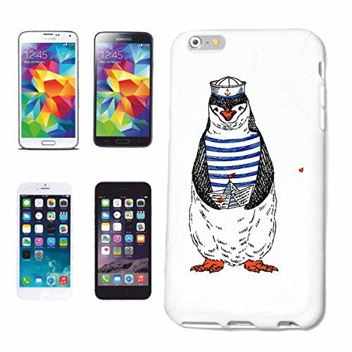 """cas de téléphone iPhone 7 """"PINGOUIN DOUX EN UNIFORME SAILOR PENGUINS VOGEL OISEAUX MARINS PINGOUIN ESPÈCES oiseaux marins"""" Hard Case Cover Téléphone Covers Smart Cover pour Apple iPhone en blanc"""