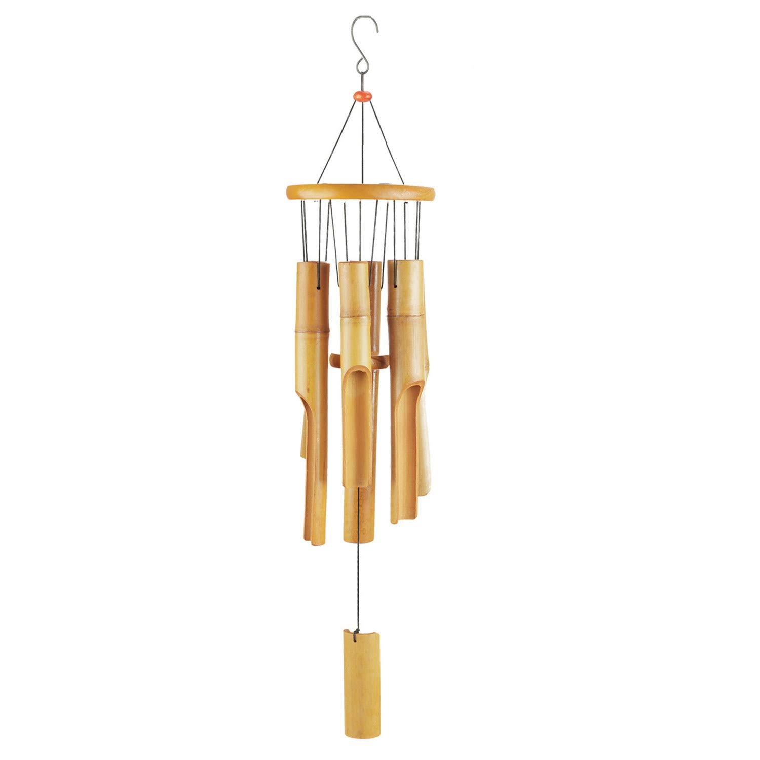 DateDirect Bamboo Wind Chimes - Wood Wind Chime - Large Indoor Outdoor Wooden - 32'' Wind Chimes for Garden, Yark,Patio and Home Décor