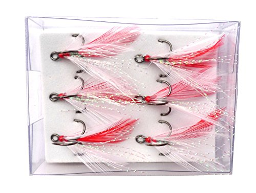 Brule Dressed VMC Treble 6pk (WhiteRed, -
