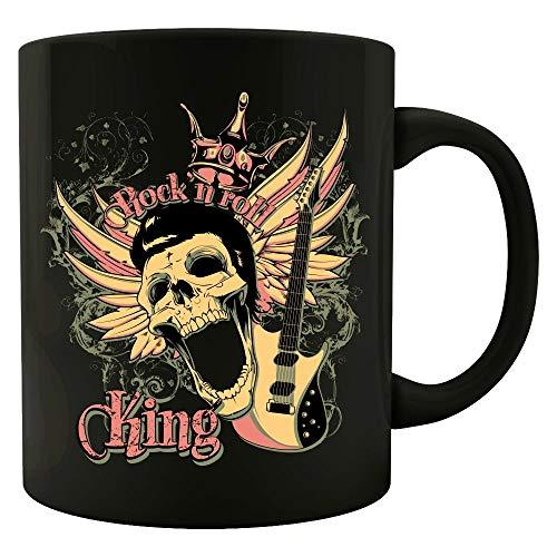 Rock and Roll King Skull Guitar - Colored Mug