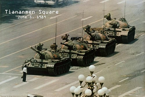 Tank Man Tiananmen Square (Tiananmen Square Poster 36 x 24in)