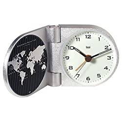 Bai World Trotter Solid Aluminum Travel Alarm Clock, Gotham