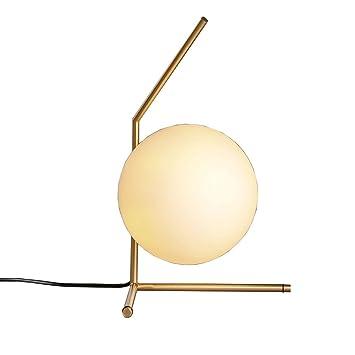Shubiao Escalera Minimalista nórdica Lámpara de Mesa de Hierro Forjado Sala de Estar postmoderna Estudio Ronda Lámpara de Mesa de Vidrio (Diseño : 3): Amazon.es: Hogar