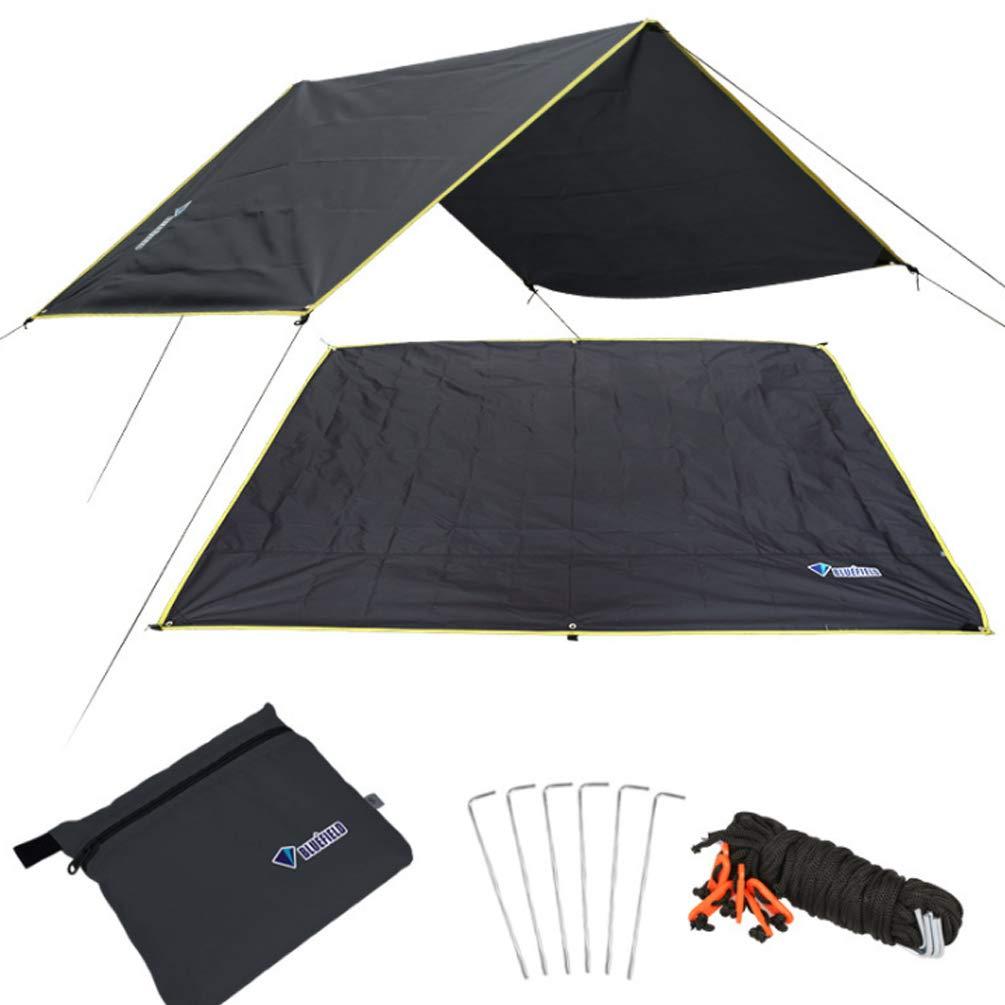 noir 150220cm XGYUII BÂches 420D Oxford Tissu De Camping Multi-Usage Toile De Tente Canopée Camping en Plein Air Parasol Résistant à La Pluie Hangar Abri Plage De Plage Parapluie