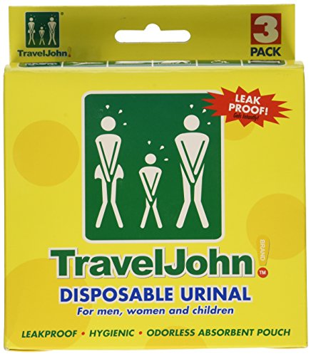 TravelJohn Disposable Urinal for Men, Women & Children 3 ea (Pack of -
