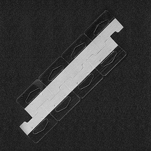 104 Clear Self Adhesive Heavy Duty Slot Hang Tab Tags 19 Oz Limit Retail Hangers